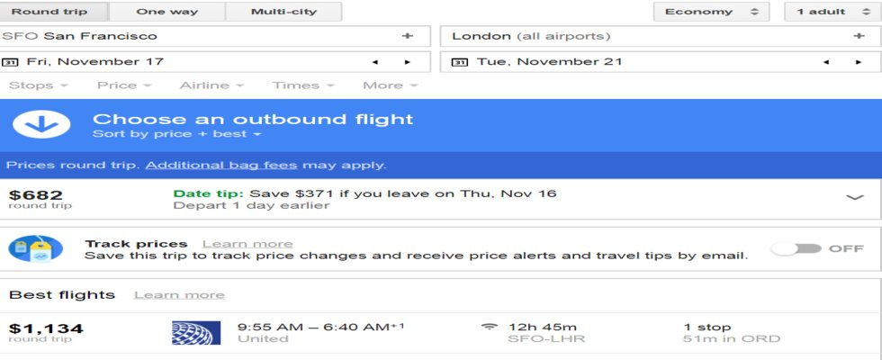 Book Airfare Ticket by Google